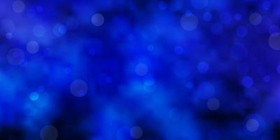 Dark Pink, Blue vector texture with disks.