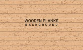 Texture of wooden planks with nails vector