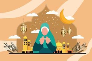 Realistic Mosque illustration vector