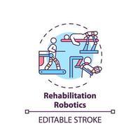 icono de concepto de robótica de rehabilitación vector