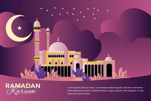 Ramadan mubarak celebratory illustration vector