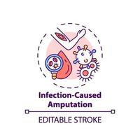 Infection-caused amputation concept icon vector