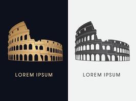 Roman Colosseum Building Set vector