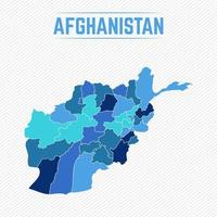 Afghanistan Detailed Map With Regions vector