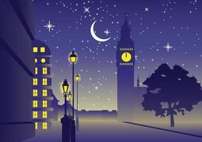 Big Ben Clock, famoso monumento de Inglaterra Londres vector