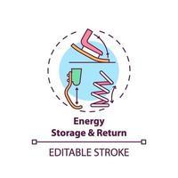 icono de concepto de almacenamiento y retorno de energía vector