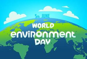 World environment day vector banner with comic style inscription