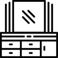 Line icon for mirror vector