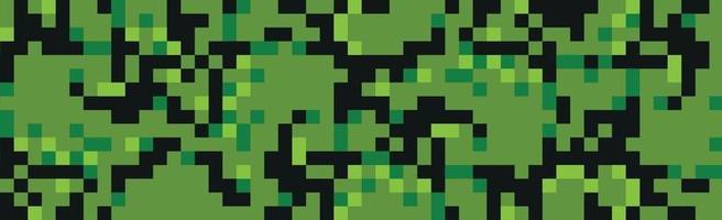 Military or hunting panoramic khaki geometric seamless pattern - Vector
