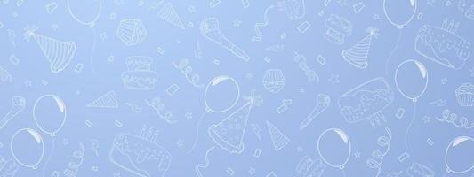 Happy Birthday banner celebration background vector