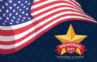 American Flag Memorial Day Background vector