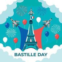 Bastille Day Background vector