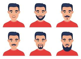 Man face vector design illustration isolated on white background