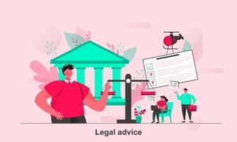 Legal advice web concept design in flat style vector illustration