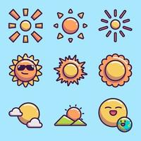 Sun Icon Collection vector