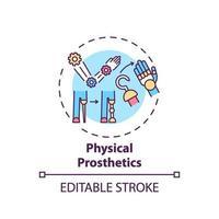 Physical prosthetics concept icon vector