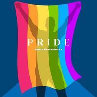 LGBT poster design Gay Pride LGBTQ ad divercity concept vector