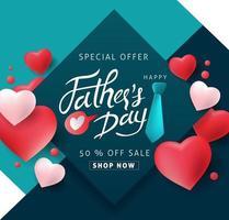 fondo de banner de venta del día del padre vector