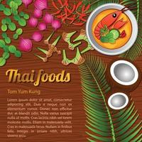 Thai delicious and famous food vector