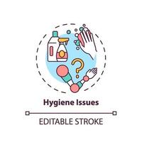 Hygiene issues concept icon vector