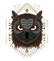 la ilustración de vector de búho. diseño de plantilla animal
