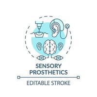 Sensory prosthetics concept icon vector