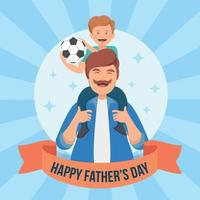 Father's Day Background vector