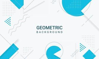 Abstract blue geometric shapes of modern elements background vector