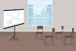 Business training course flat concept vector illustration