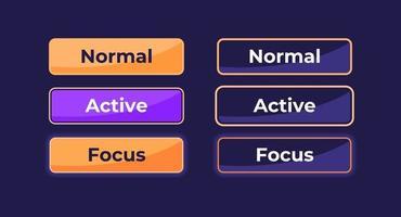 kit de elementos de interfaz de usuario de configuración activa e inactiva vector