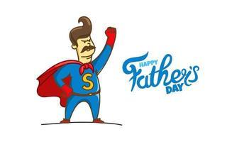 Tarjeta de vector de feliz día del padre con logotipo de letras