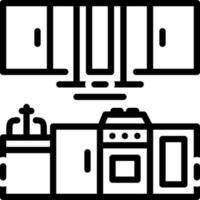 Line icon for kitchen vector