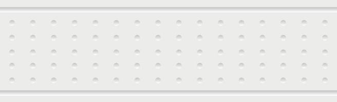 White vector panoramic background with straight lines and holes