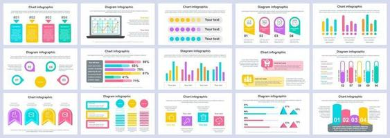 Business and finance infographics presentation slides template vector design template