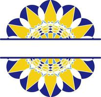 mandala en estilo azulejo, ornamento circular portugués. vector