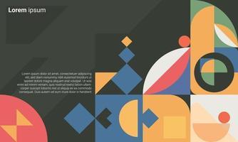 Fondo de arte minimalista de geometría. diseño de patrones para banner web, presentación de negocios, paquete de marca, estampado de tela, papel tapiz vector