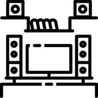 Line icon for living room vector