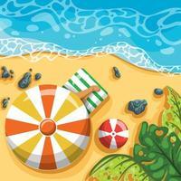 Enjoying Summer Beach Background vector