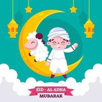 Cute Design of Eid Al-Adha vector