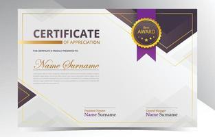 Modern Certificate of Appreciation Template vector