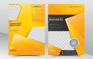plantilla de folleto abstracto amarillo de negocios vector
