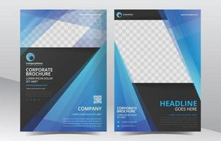 Blue Abstract Shapes Brochure Template vector