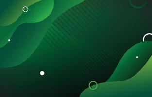Green Fluid Abstract Background vector