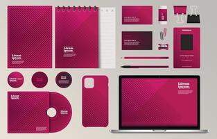 Geometric Corporate Identity Stationery Set Template vector