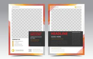 Abstract Shapes Brochure Template vector