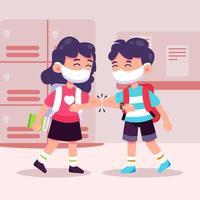 New Normal Protocol in School vector
