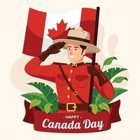 Celebrating Canada Day Concept vector
