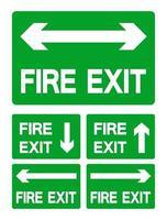 símbolo de salida de emergencia vector