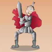 ilustración de personaje de dibujos animados de guerrero masculino vector