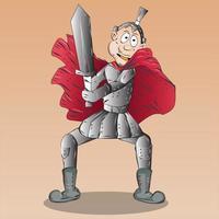 Male Warrior Cartoon Character Illustration vector